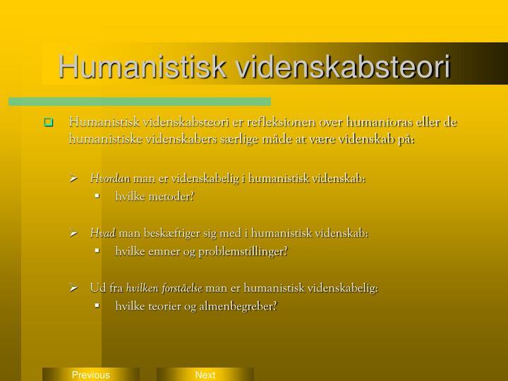 Humanistisk videnskabsteori