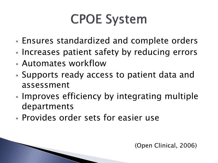 CPOE System