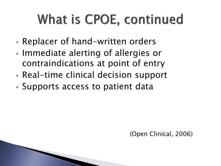 (Open Clinical, 2006)
