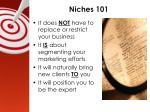 niches 101