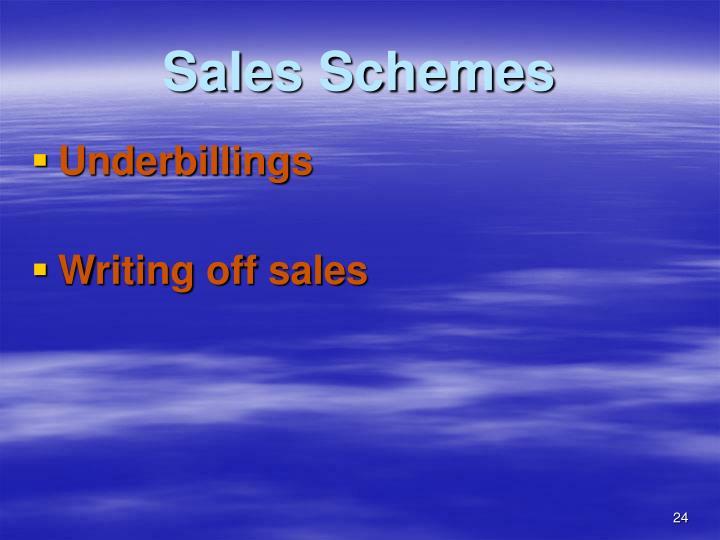 Sales Schemes