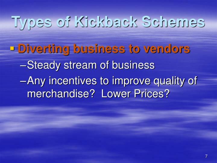 Types of Kickback Schemes