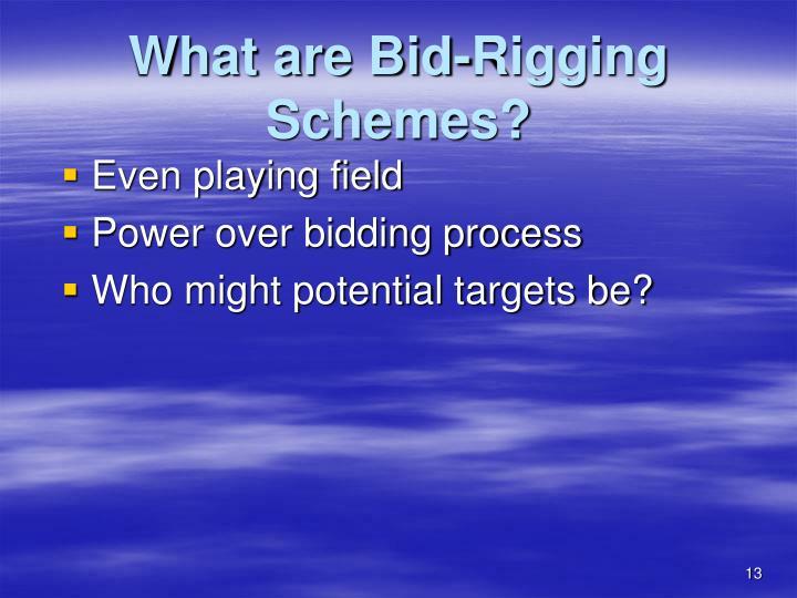 What are Bid-Rigging Schemes?