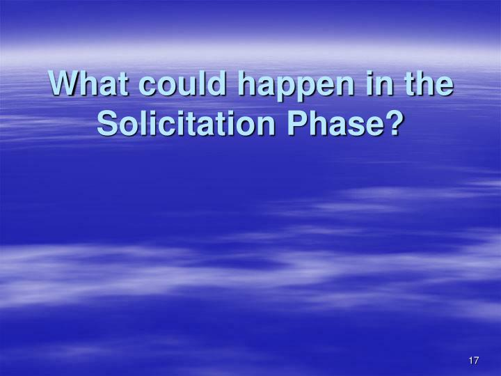 What could happen in the Solicitation Phase?
