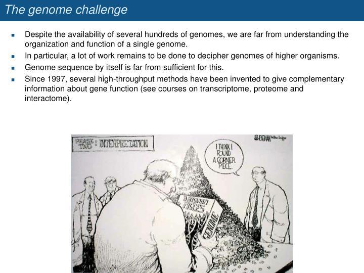 The genome challenge