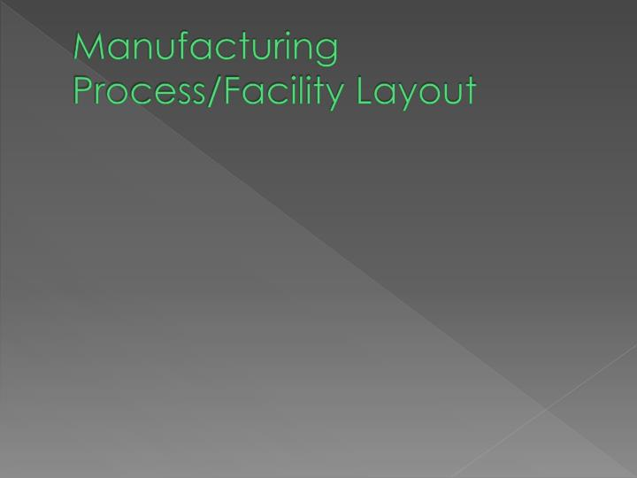 Manufacturing Process/Facility Layout