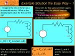 example solution the easy way 1