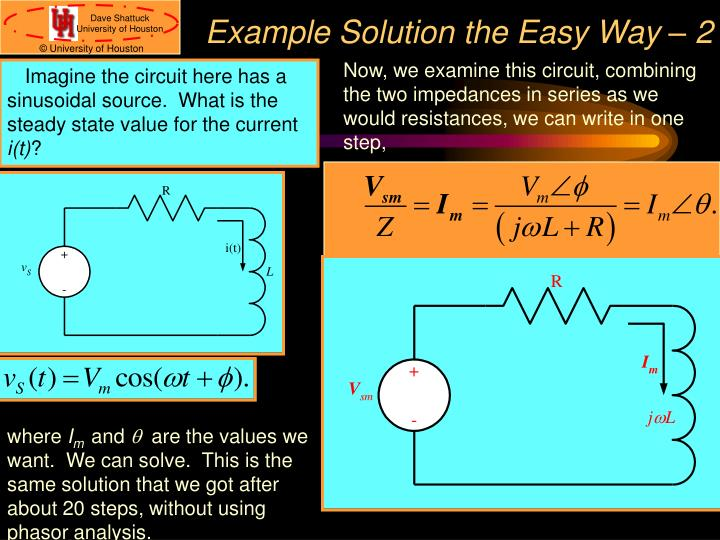 Example Solution the Easy Way – 2