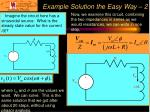 example solution the easy way 2