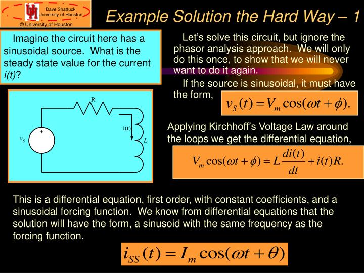 Example Solution the Hard Way – 1