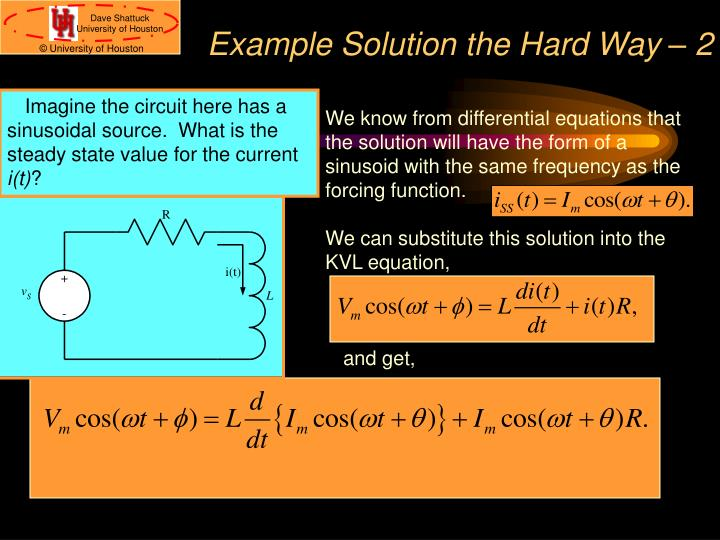 Example Solution the Hard Way – 2
