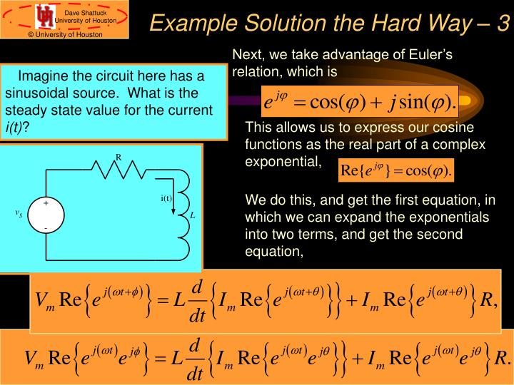 Example Solution the Hard Way – 3