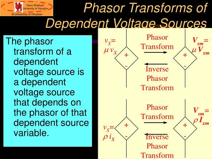 Phasor Transforms of
