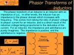 phasor transforms of inductors