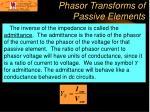 phasor transforms of passive elements1