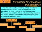 terminology for impedance and admittance