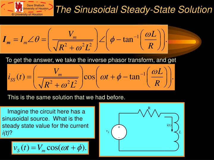 The Sinusoidal Steady-State Solution