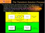 the transform solution process