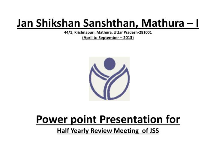 Power point Presentation for
