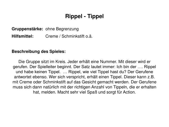 Rippel - Tippel