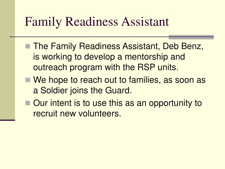 Family Readiness Assistant