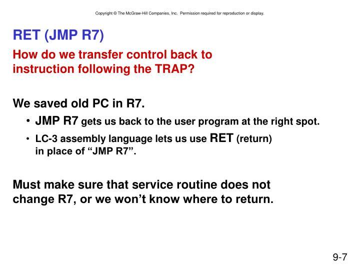 RET (JMP R7)