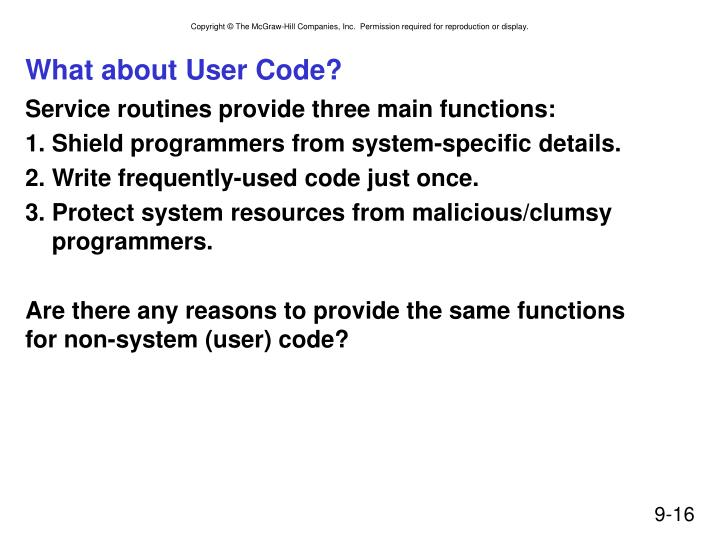 What about User Code?