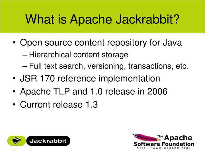 What is Apache Jackrabbit?