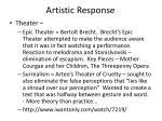 artistic response