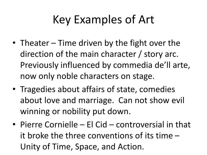 Key Examples of Art