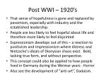 post wwi 1920 s