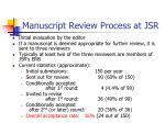 manuscript review process at jsr