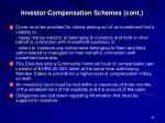investor compensation schemes cont