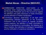 market abuse directive 2003 6 ec1