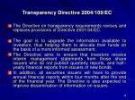 transparency directive 2004 109 ec