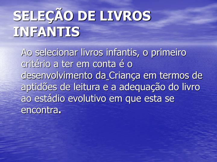 SELEÇÃO DE LIVROS INFANTIS