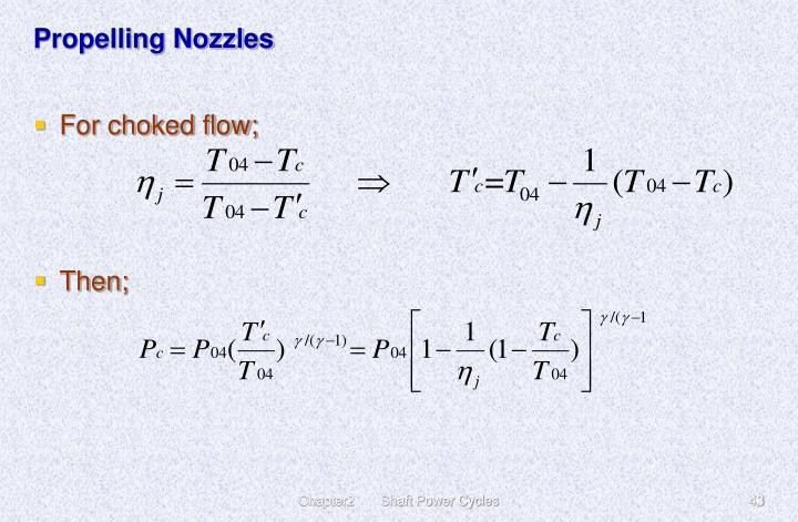 Propelling Nozzles