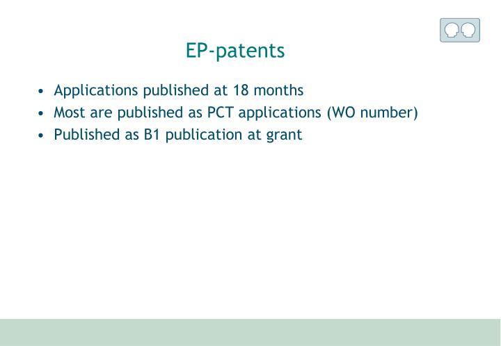 EP-patents