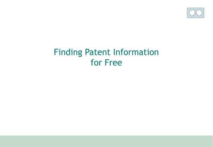 Finding Patent Information