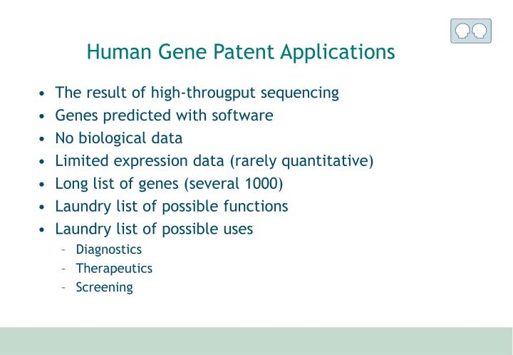 Human Gene Patent Applications