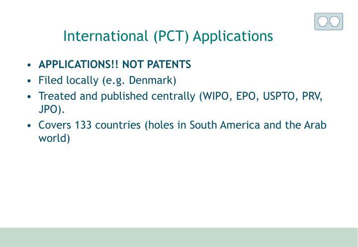International (PCT) Applications