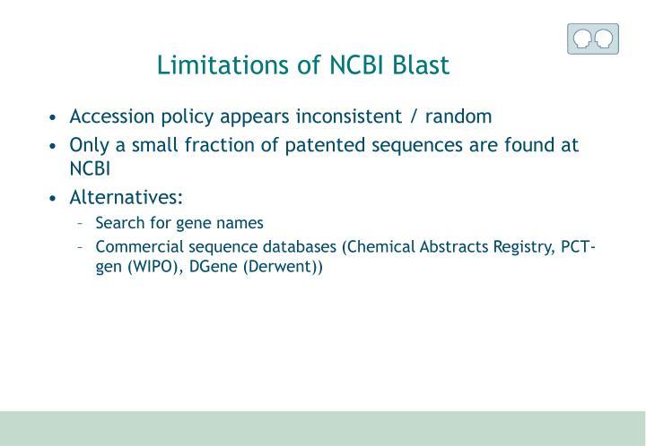 Limitations of NCBI Blast