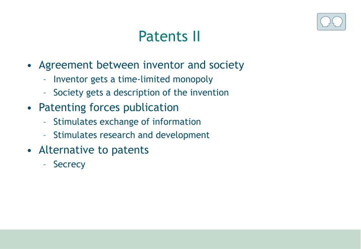 Patents II
