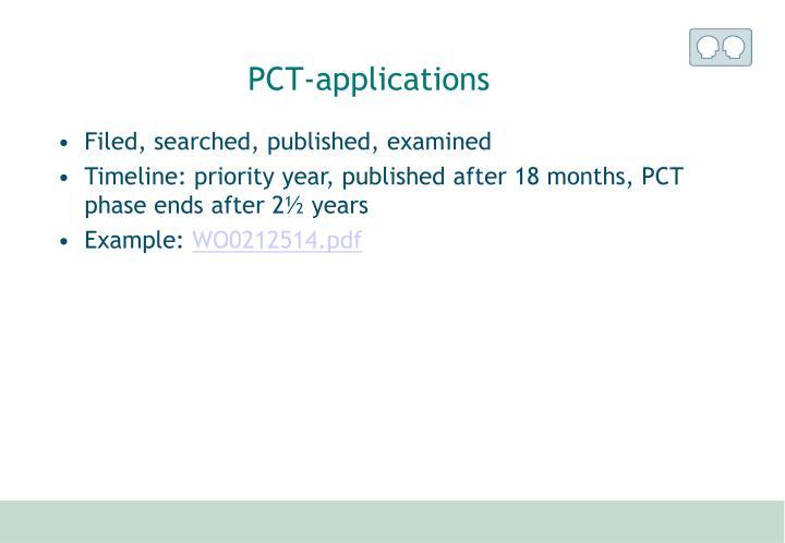 PCT-applications