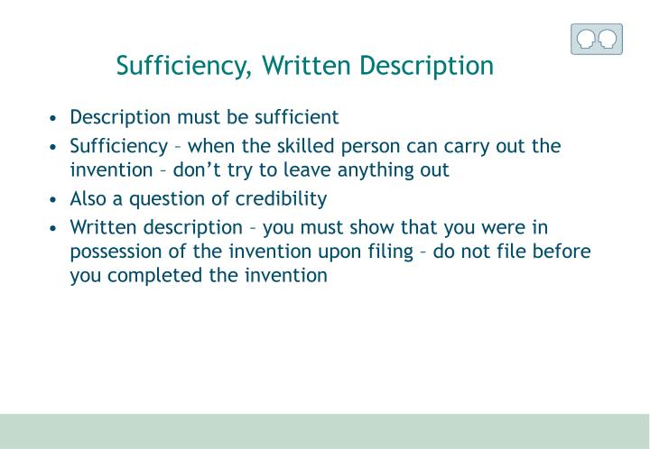 Sufficiency, Written Description