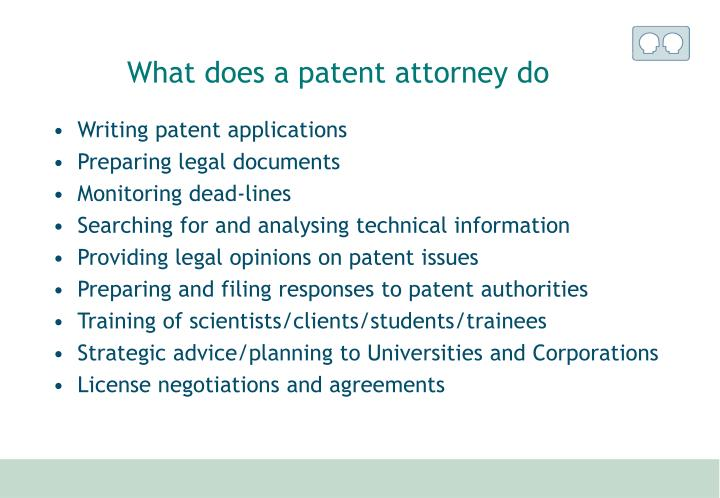 What does a patent attorney do