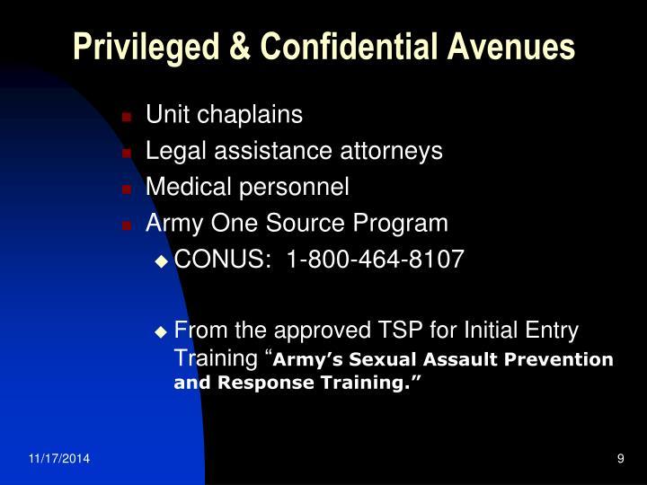 Privileged & Confidential Avenues