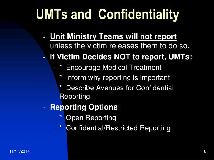 UMTs and  Confidentiality