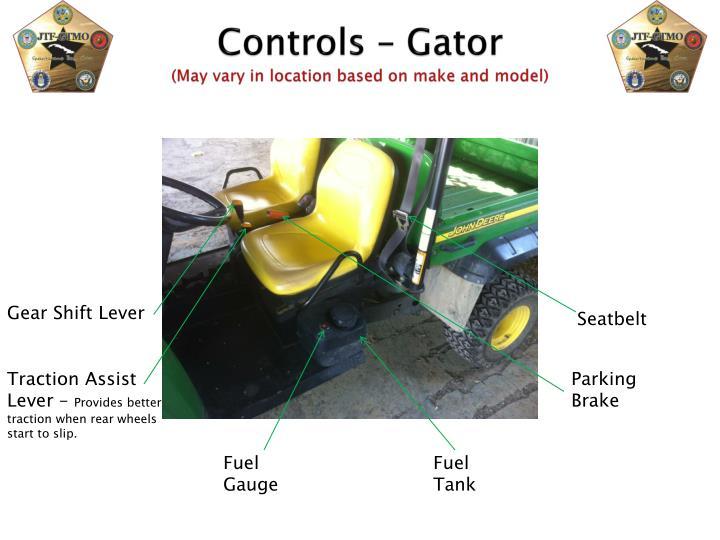 Controls – Gator