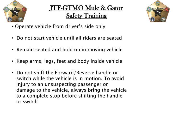 JTF-GTMO Mule & Gator